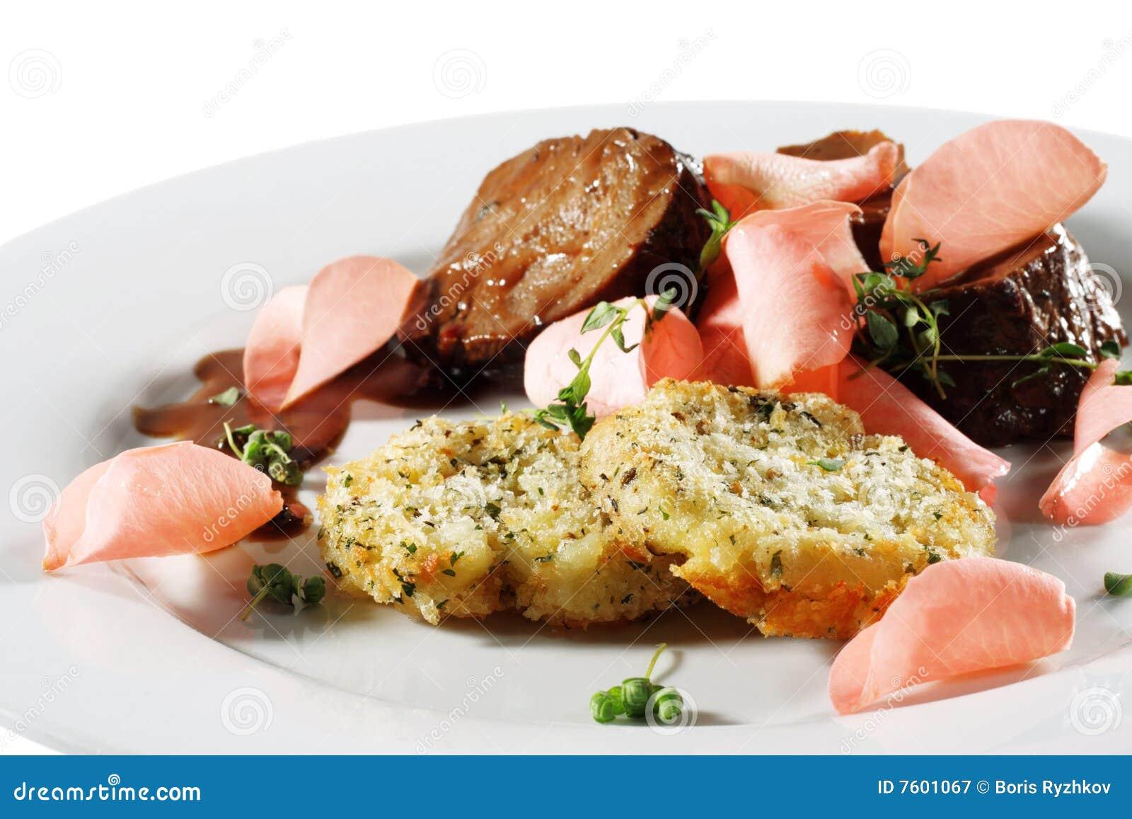 牛肉galette牌照土豆