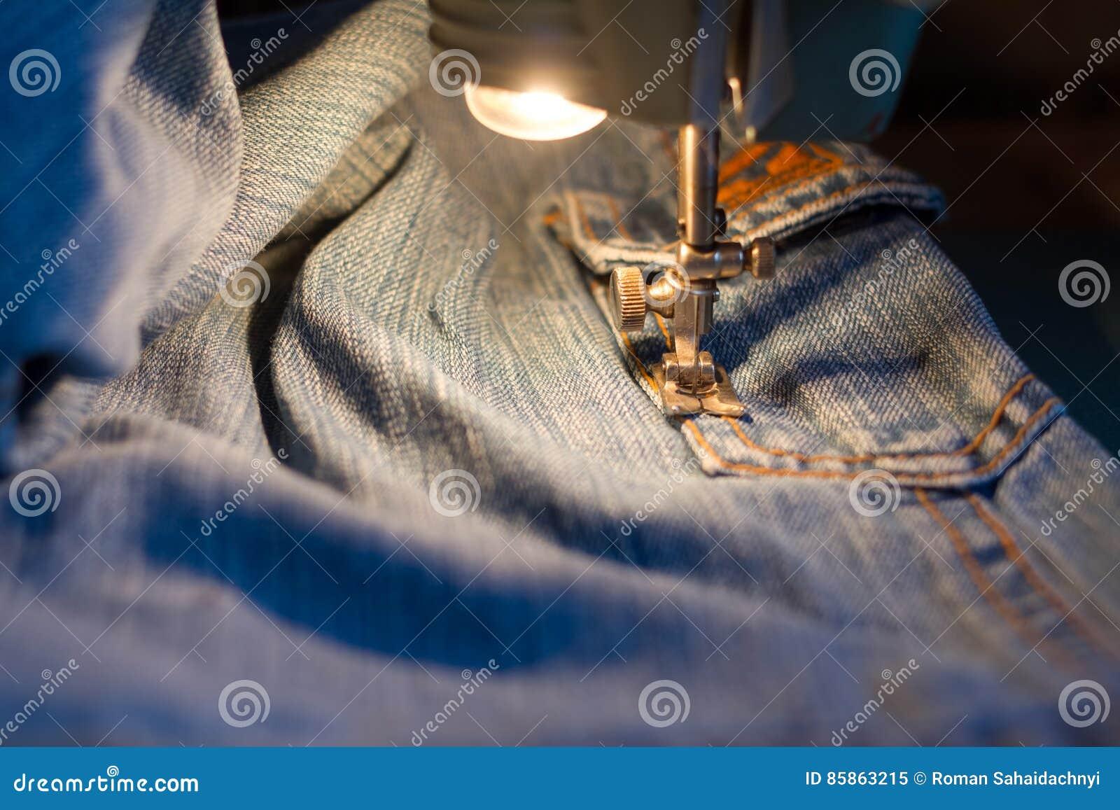 牛仔裤缝合
