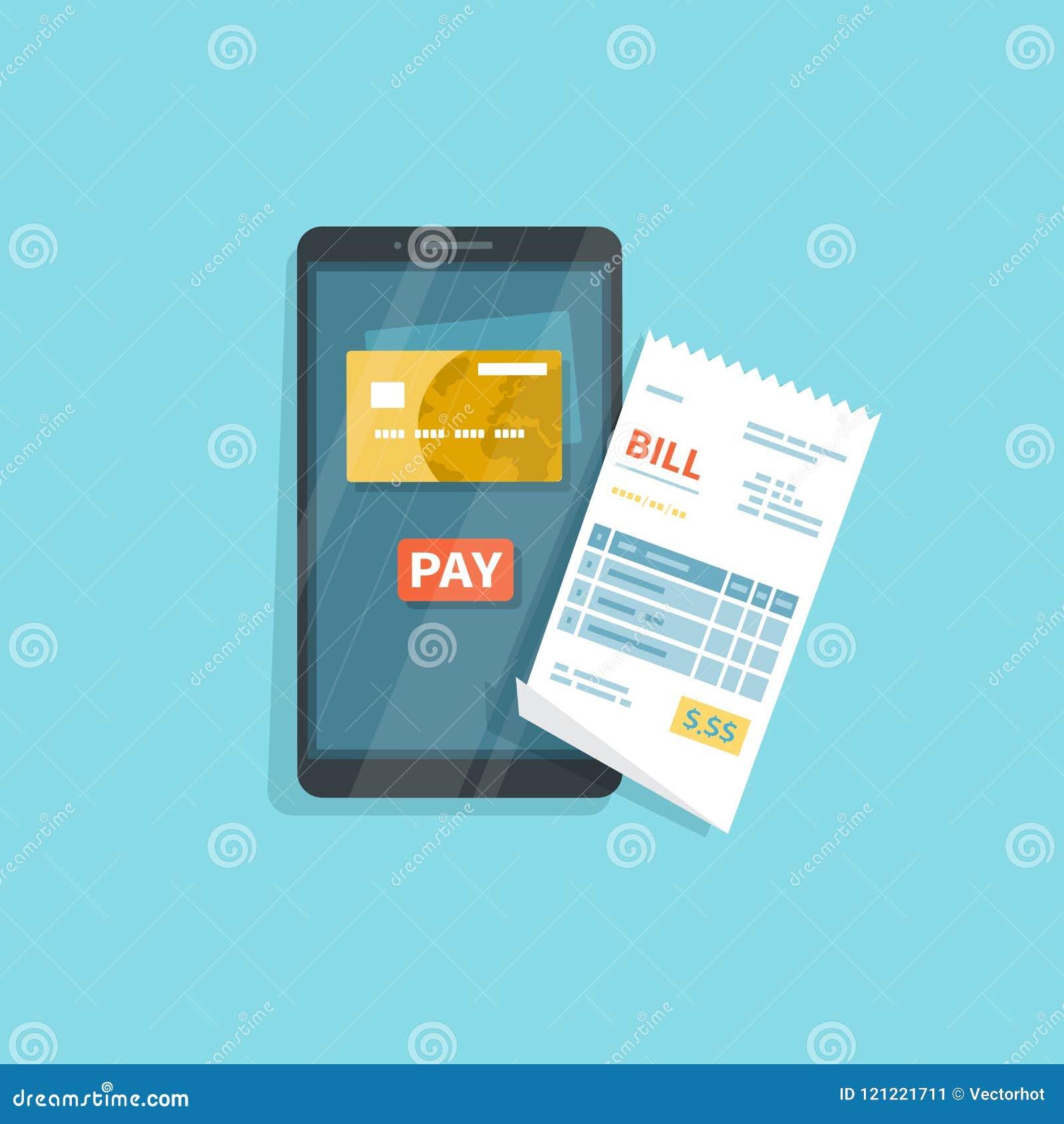 物品的流动付款,服务,购物使用智能手机 网路银行,与电话的薪水 在屏幕,按钮薪水上的信用卡