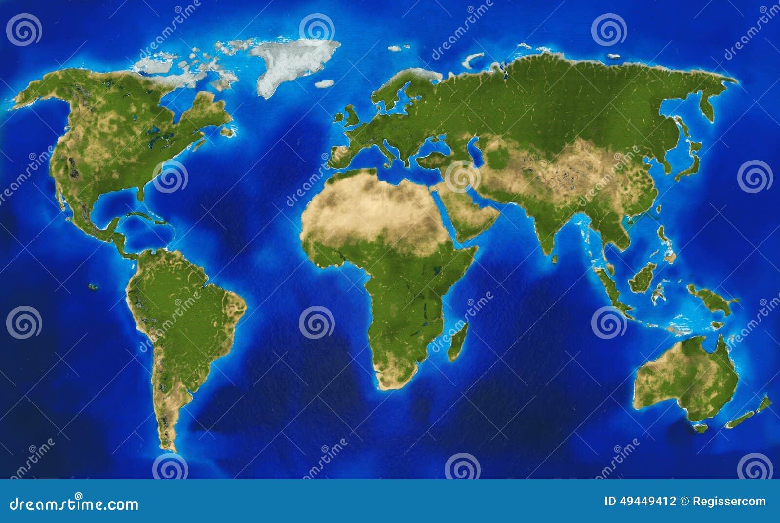 物理世界地图库存例证- 图片: 49449412