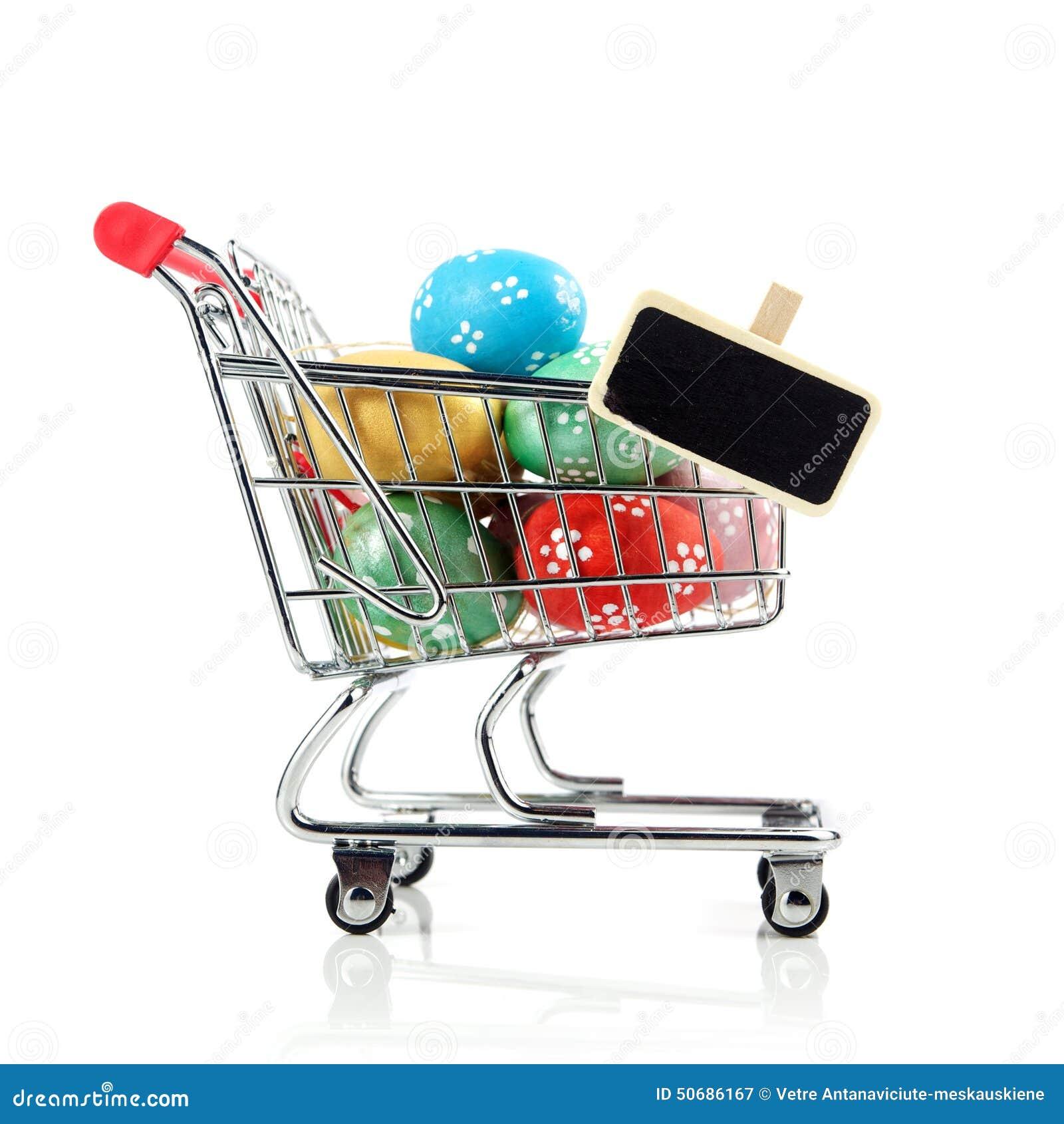 Download 购物车用复活节彩蛋 库存图片. 图片 包括有 购物车, 红色, 金子, 复活节, 颜色, 装饰, 金属, 鸡蛋 - 50686167