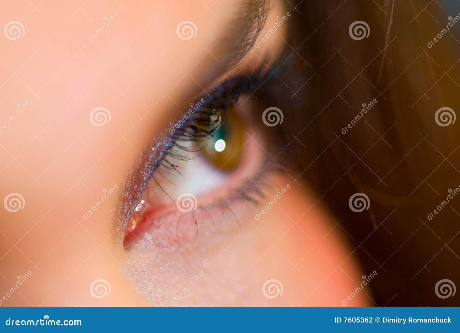 特写镜头眼睛女性