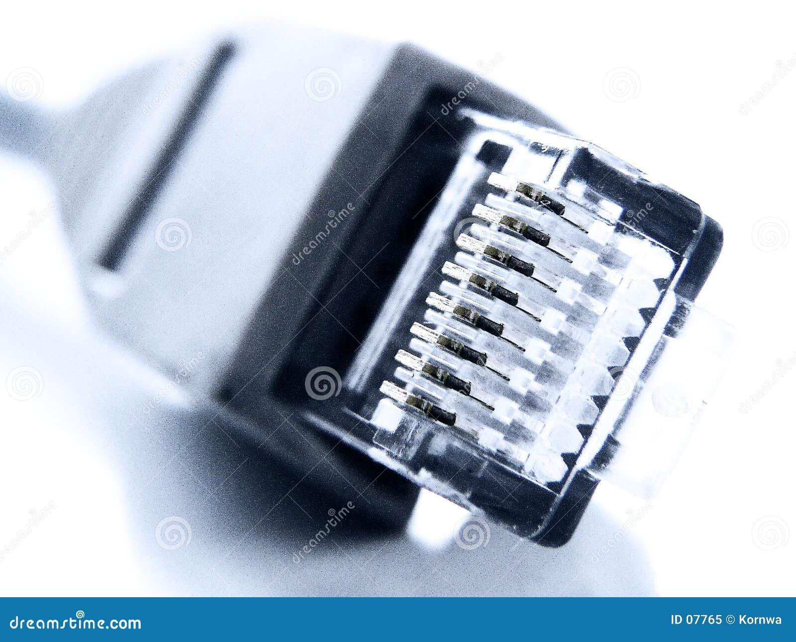 特写镜头网络插件rj45