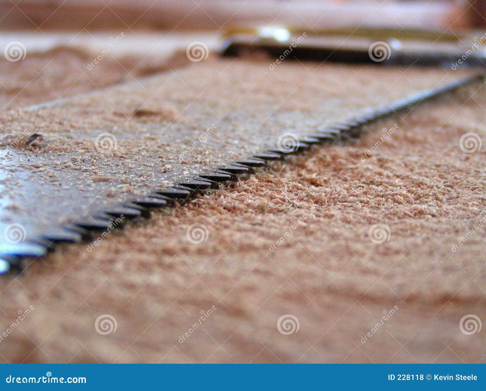 特写镜头锯木头