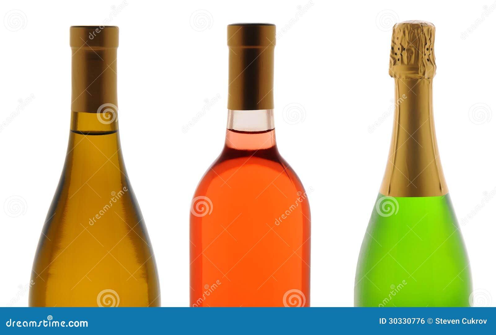 特写镜头三WineBottles