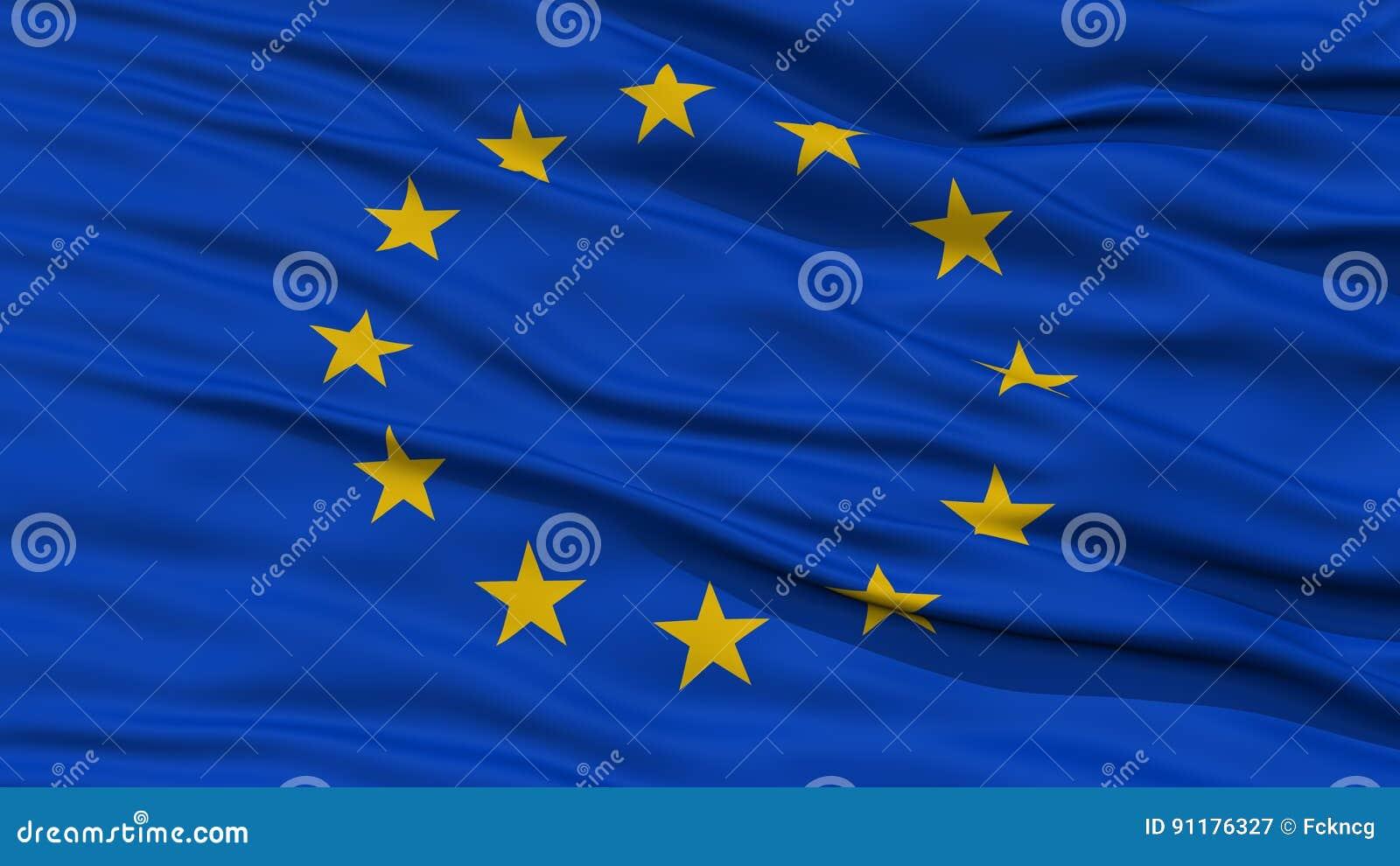 特写镜头欧洲旗子