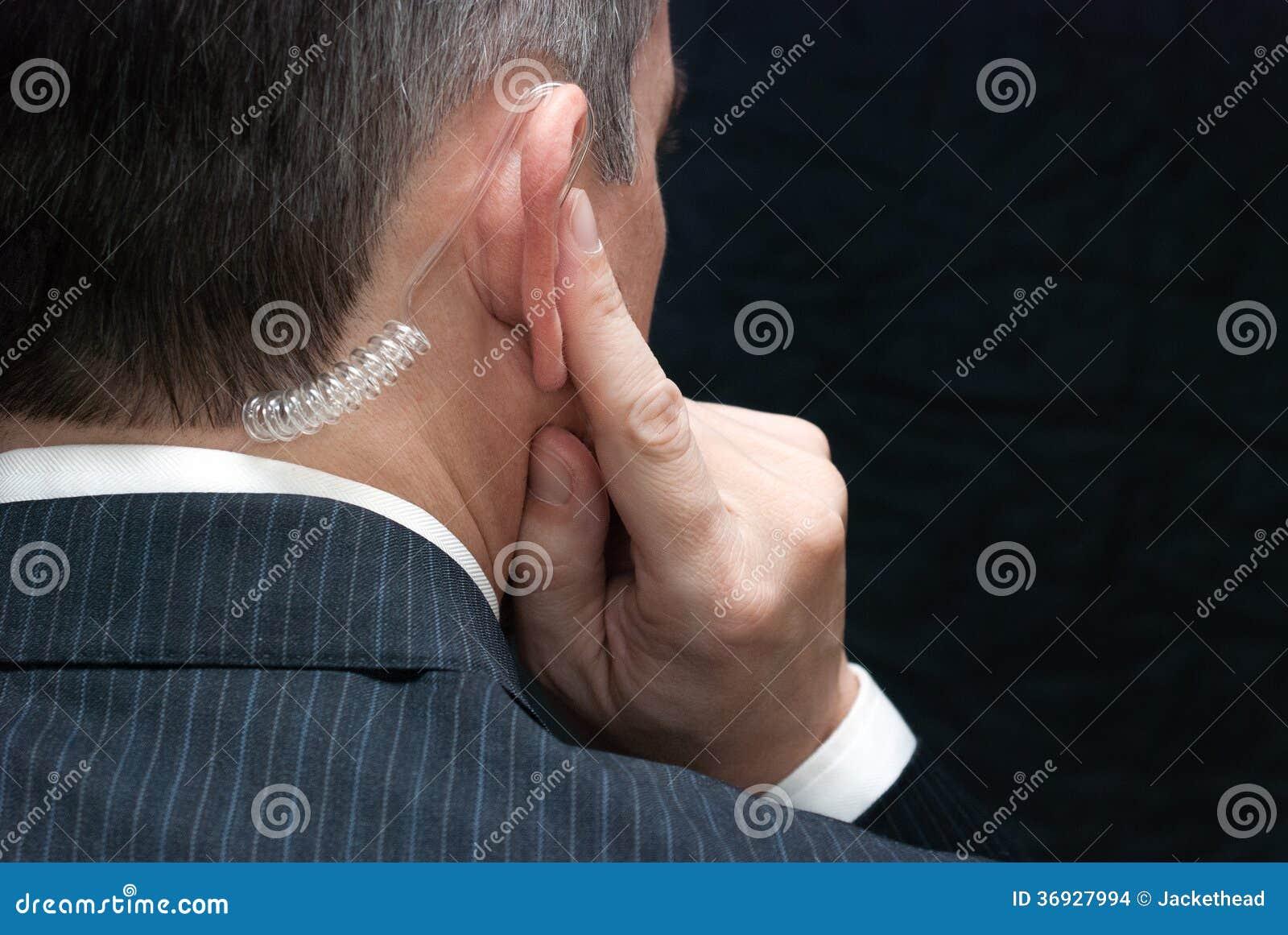 特勤局特工听听筒,肩膀