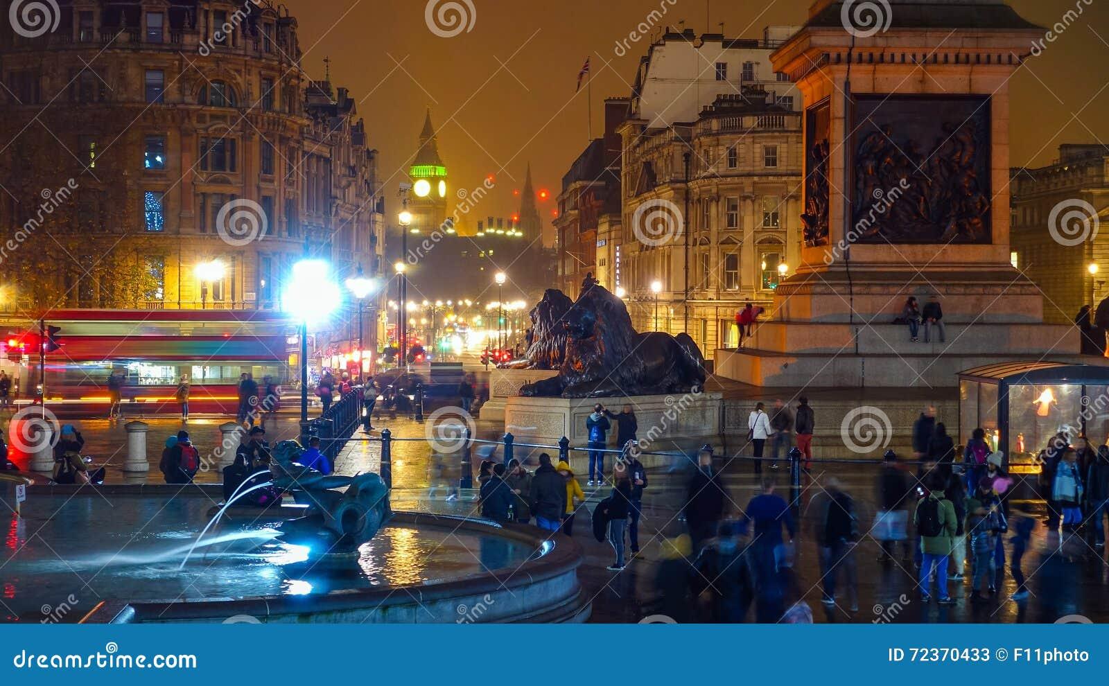 特拉法加广场一个旅游胜地在中央伦敦