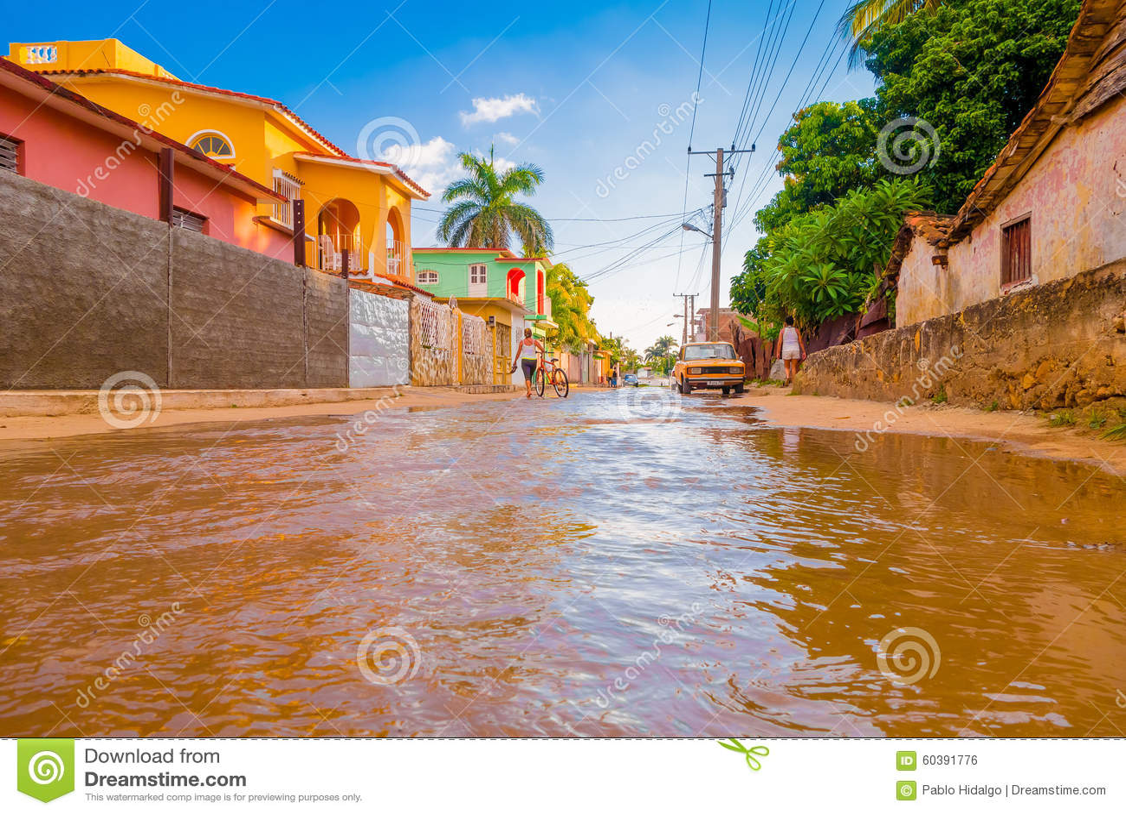 特立尼达,古巴- 2015年9月8日:充斥