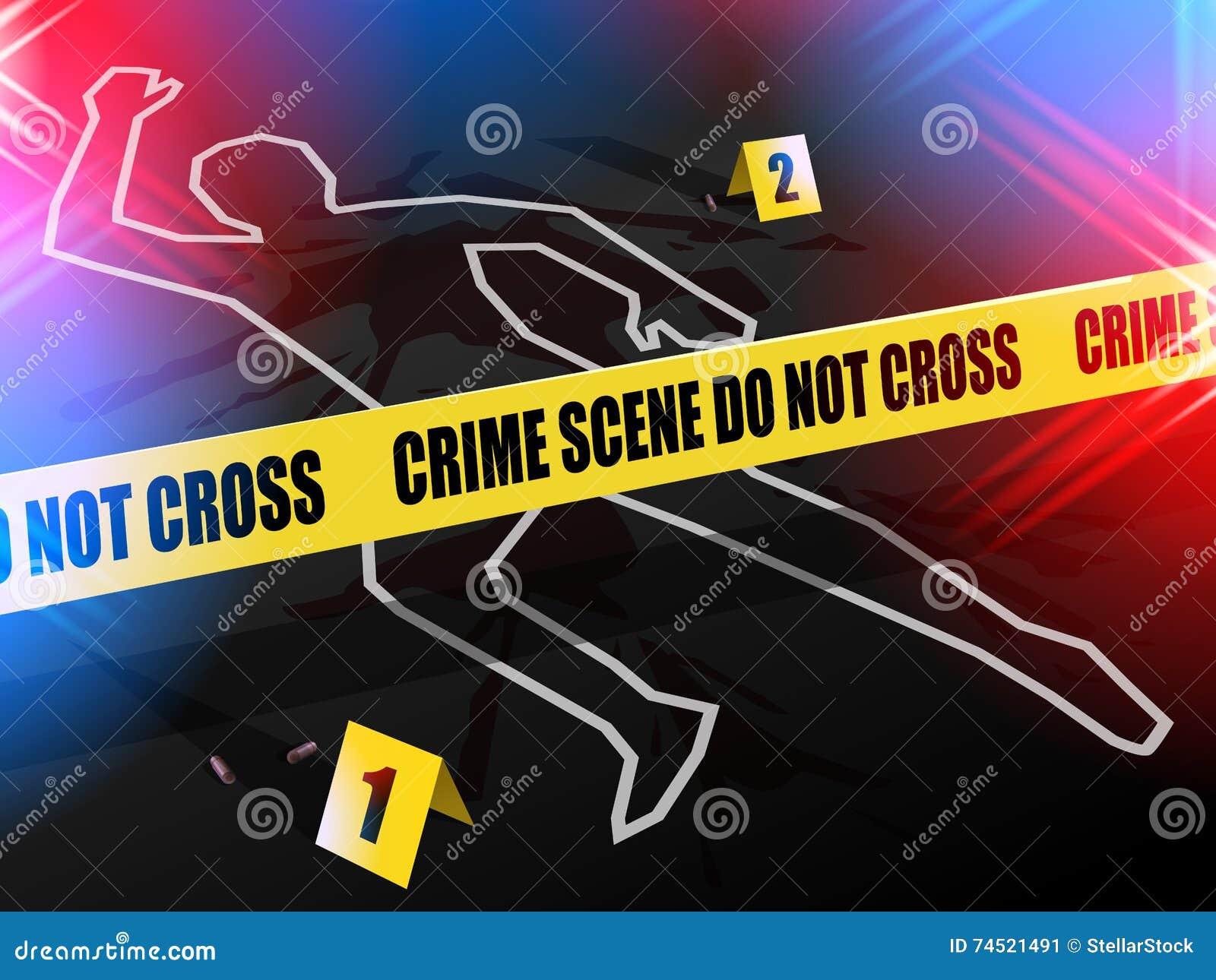 犯罪现场-不要横渡,与持枪暴力受害者白垩概述