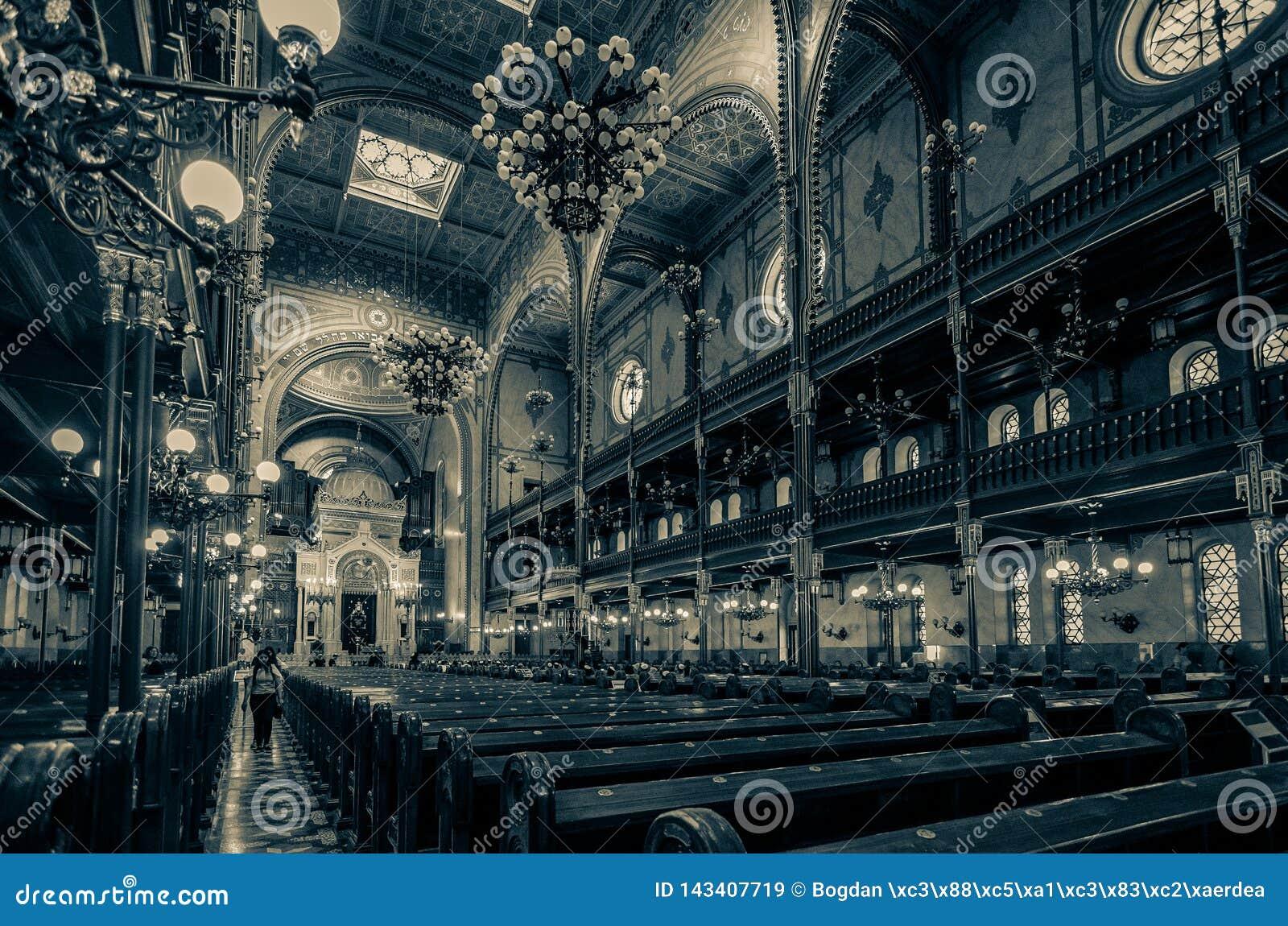 犹太教堂在布达佩斯,匈牙利,欧洲