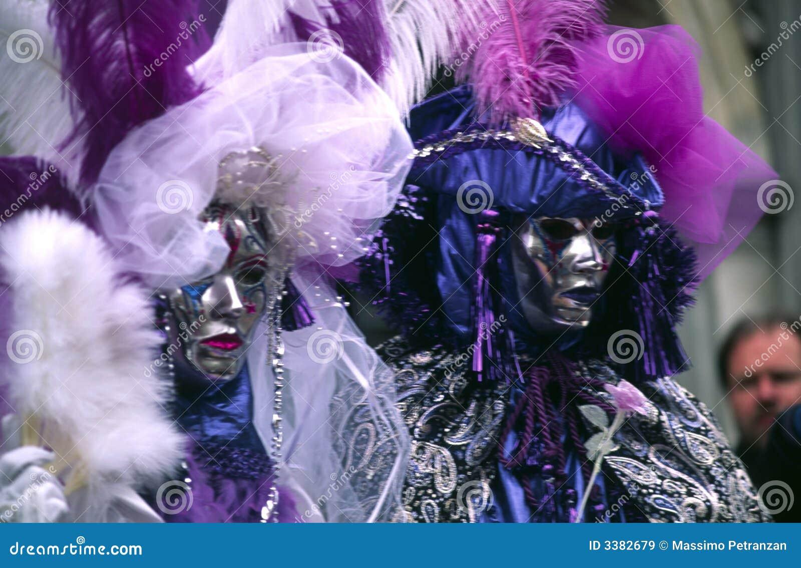 狂欢节夫妇屏蔽威尼斯式