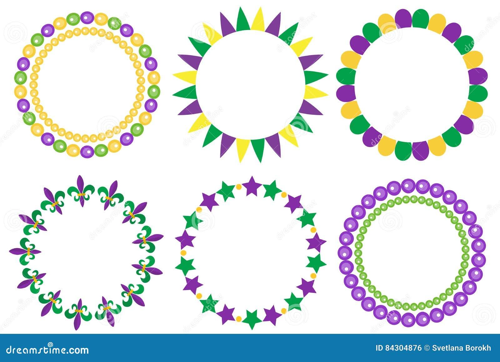 狂欢节框架集合 与空间的逗人喜爱的圆的边界文本的 查出在白色