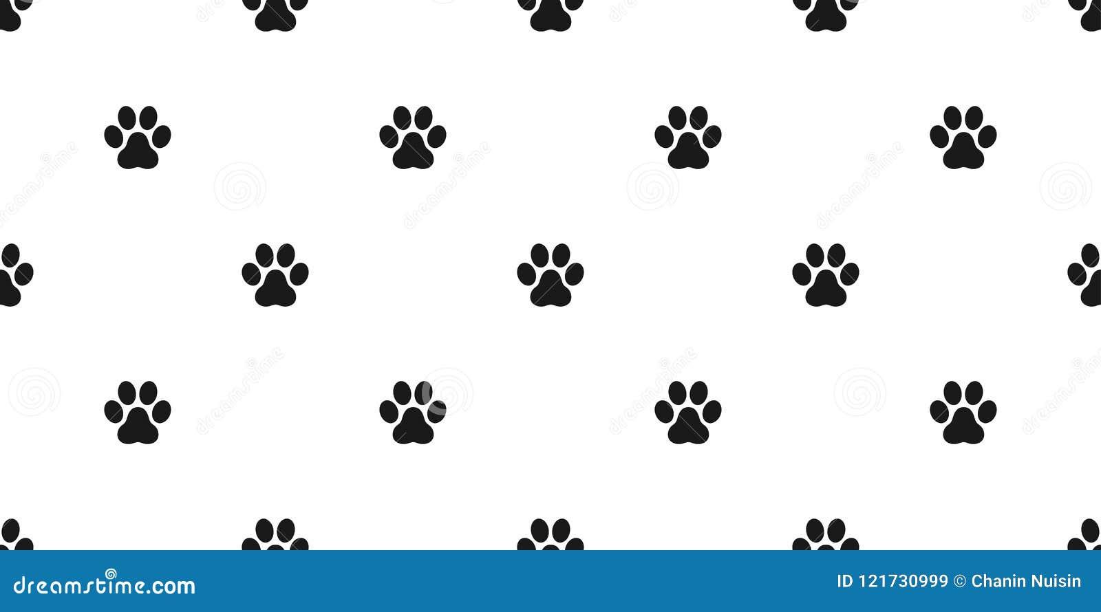 狗爪子无缝的样式传染媒介脚印刷品爪子猫小狗小猫墙纸隔绝了背景白色