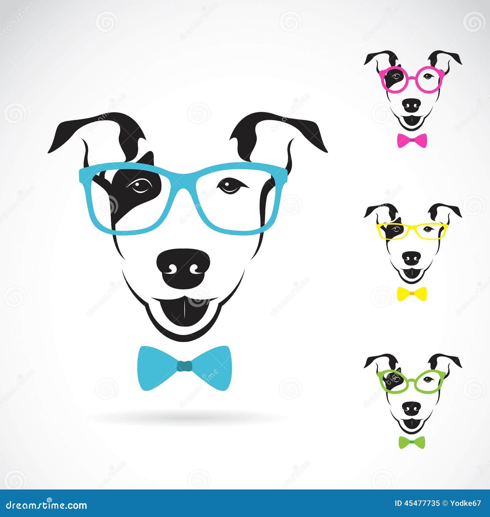 狗(杂种犬)玻璃的传染媒介图象