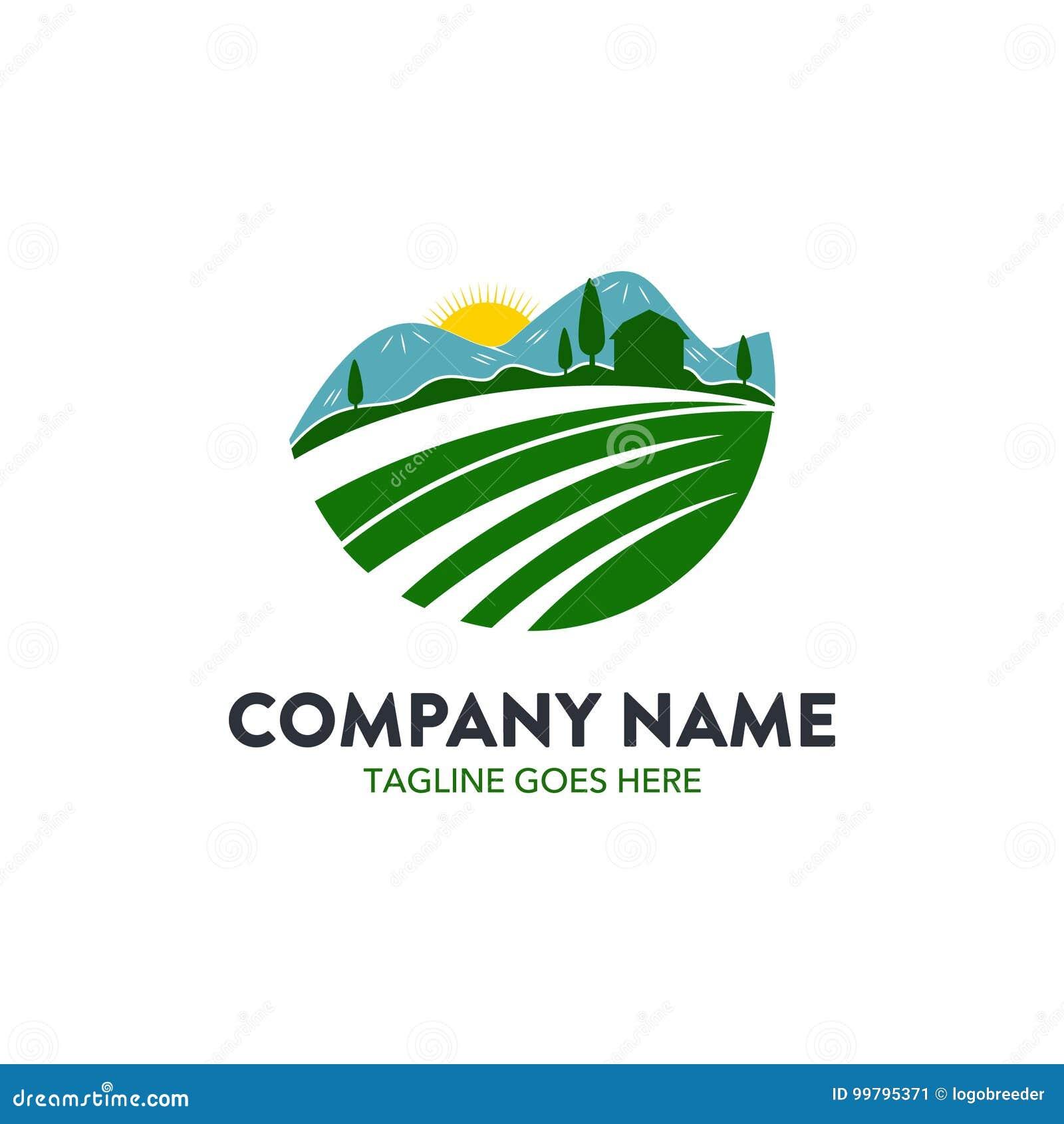 独特的农业商标模板