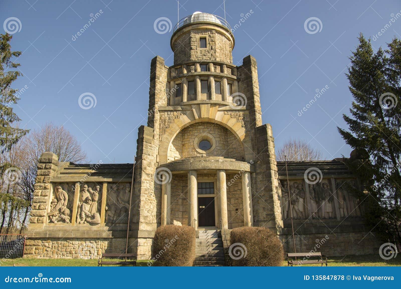 独立历史的马萨里克监视塔在捷克共和国的,好日子Horice