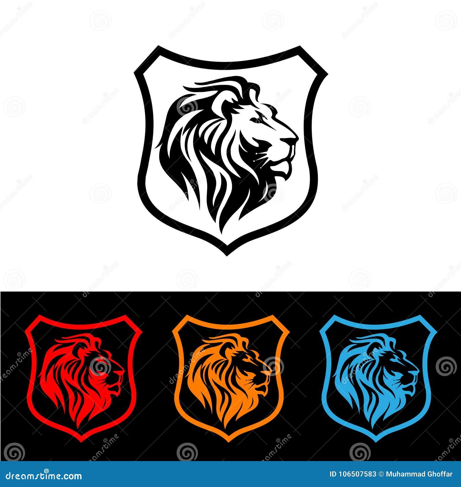 狮子坚硬的标志概念例证