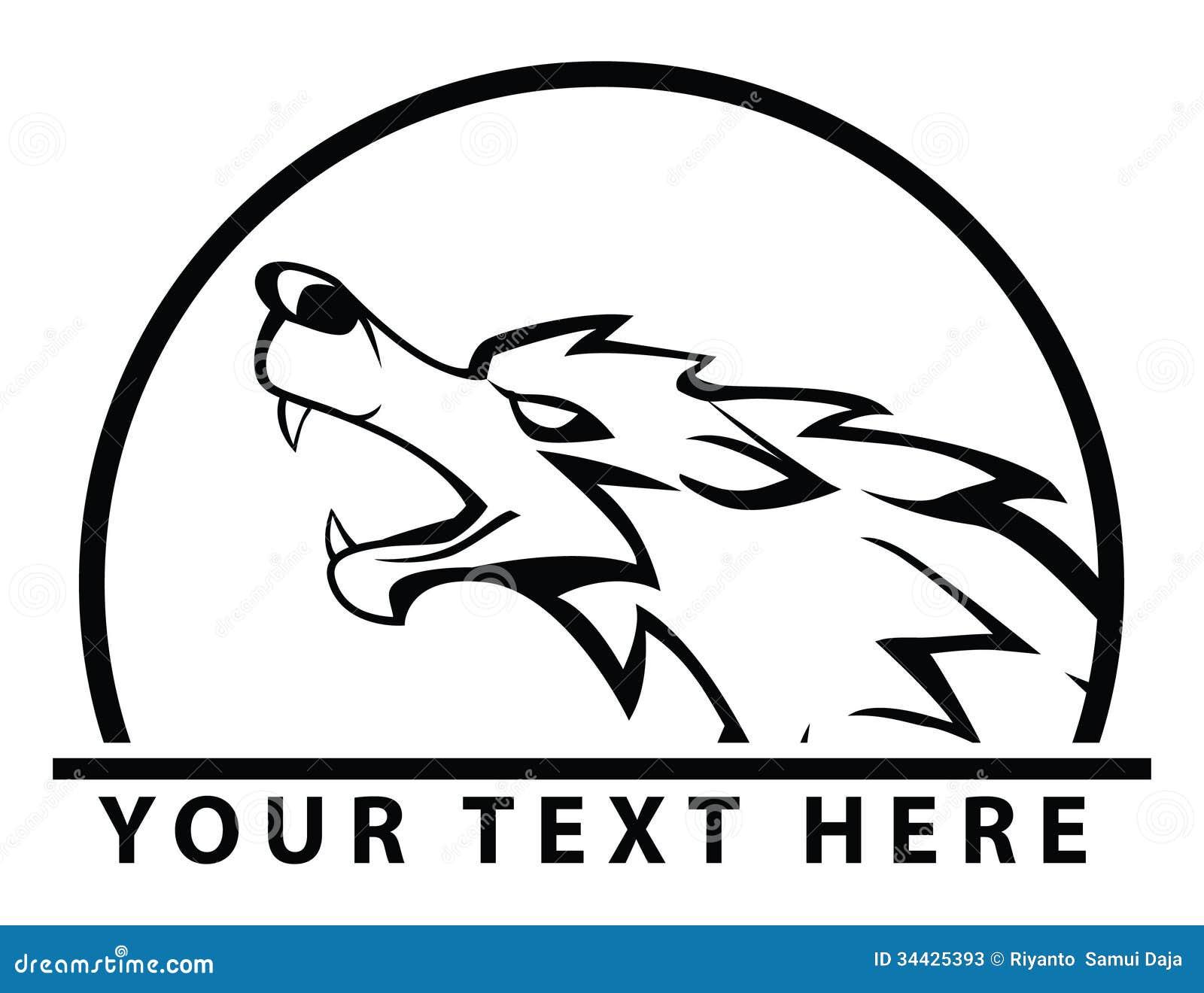 狼标志图片