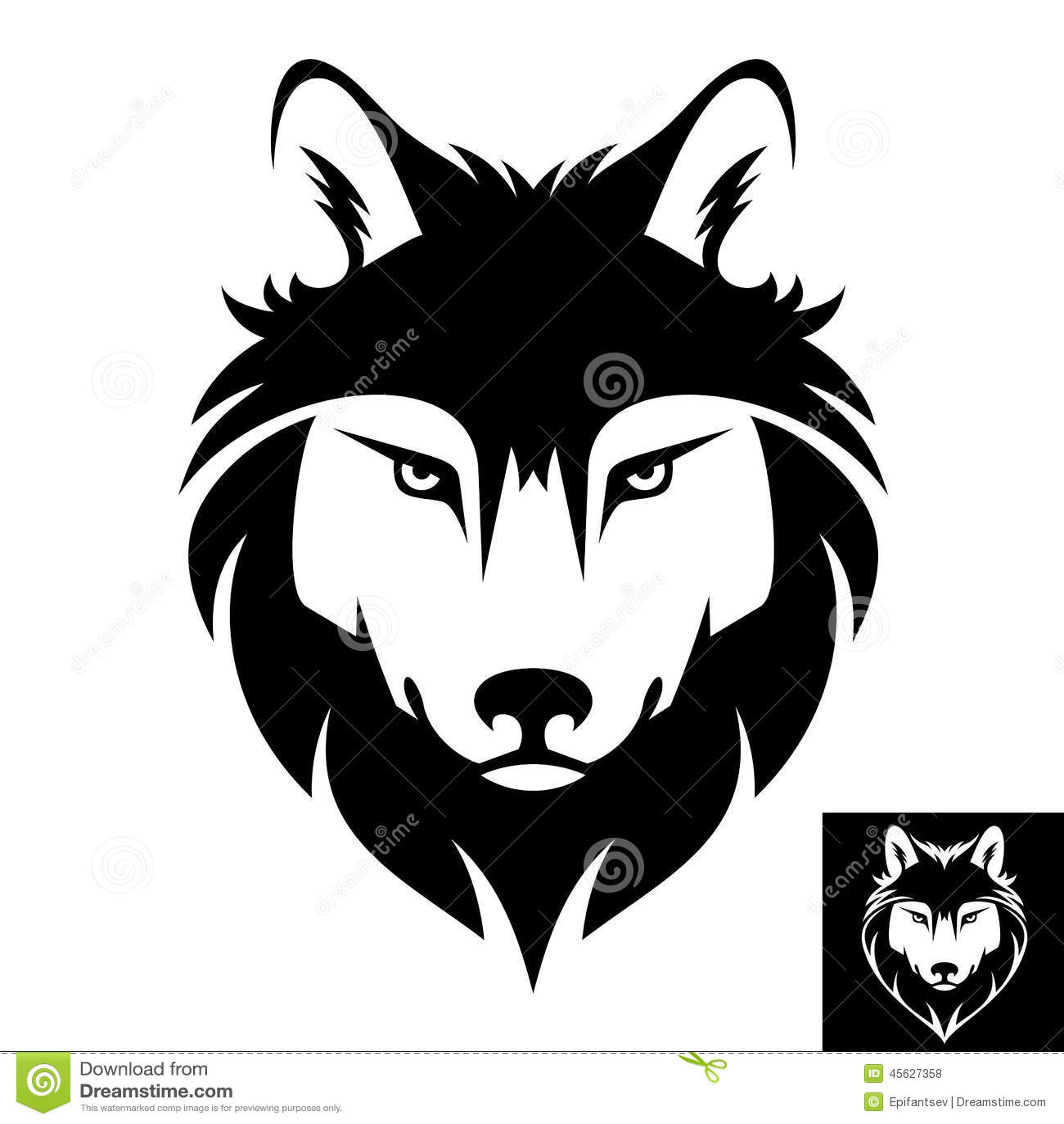 狼顶头商标或象