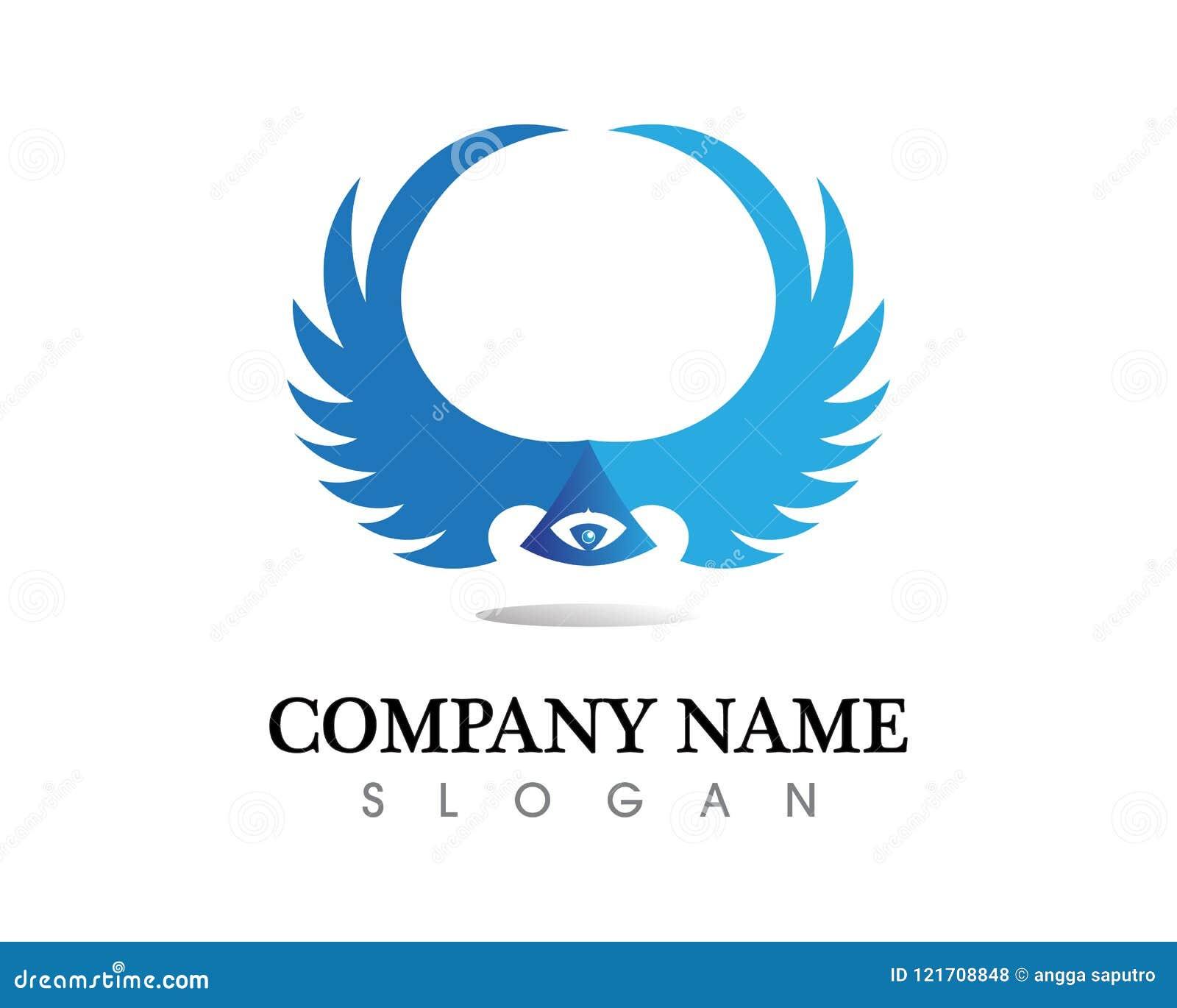 猎鹰翼商标模板传染媒介象设计