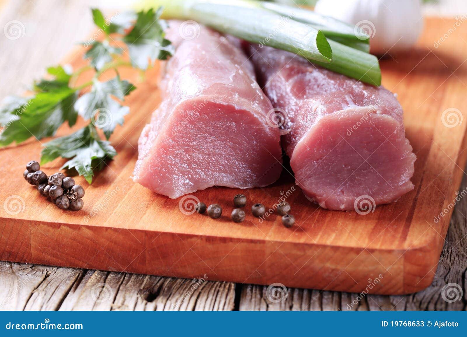 猪肉原始的里脊肉
