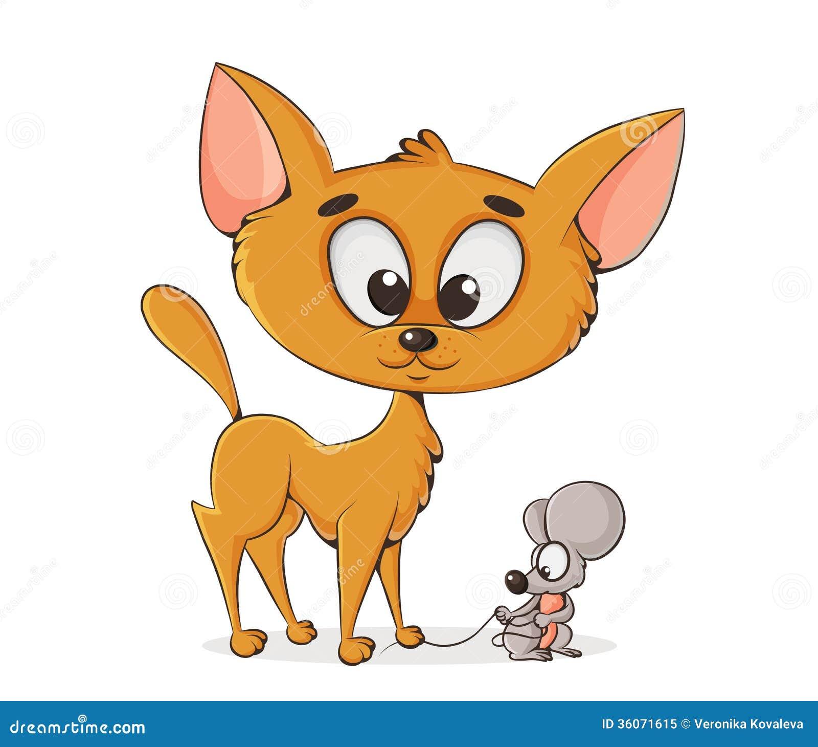 免版税  download comp 动画片猫和老鼠的传染媒介例证 茴香, 艺术图片