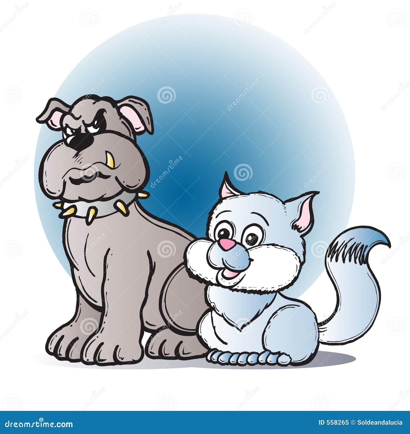 免版税库存照片: 猫狗