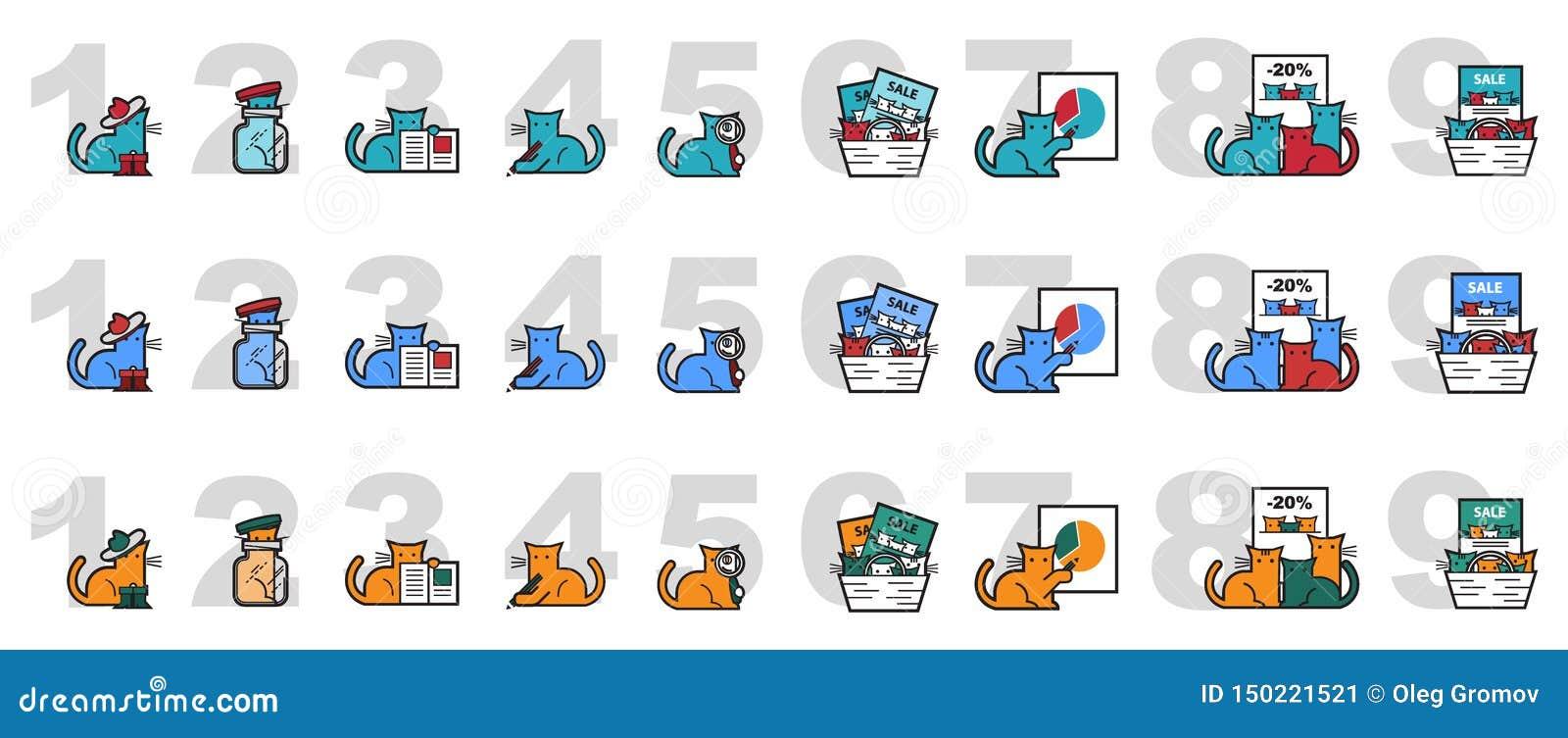 猫的传染媒介图象销售和介绍的