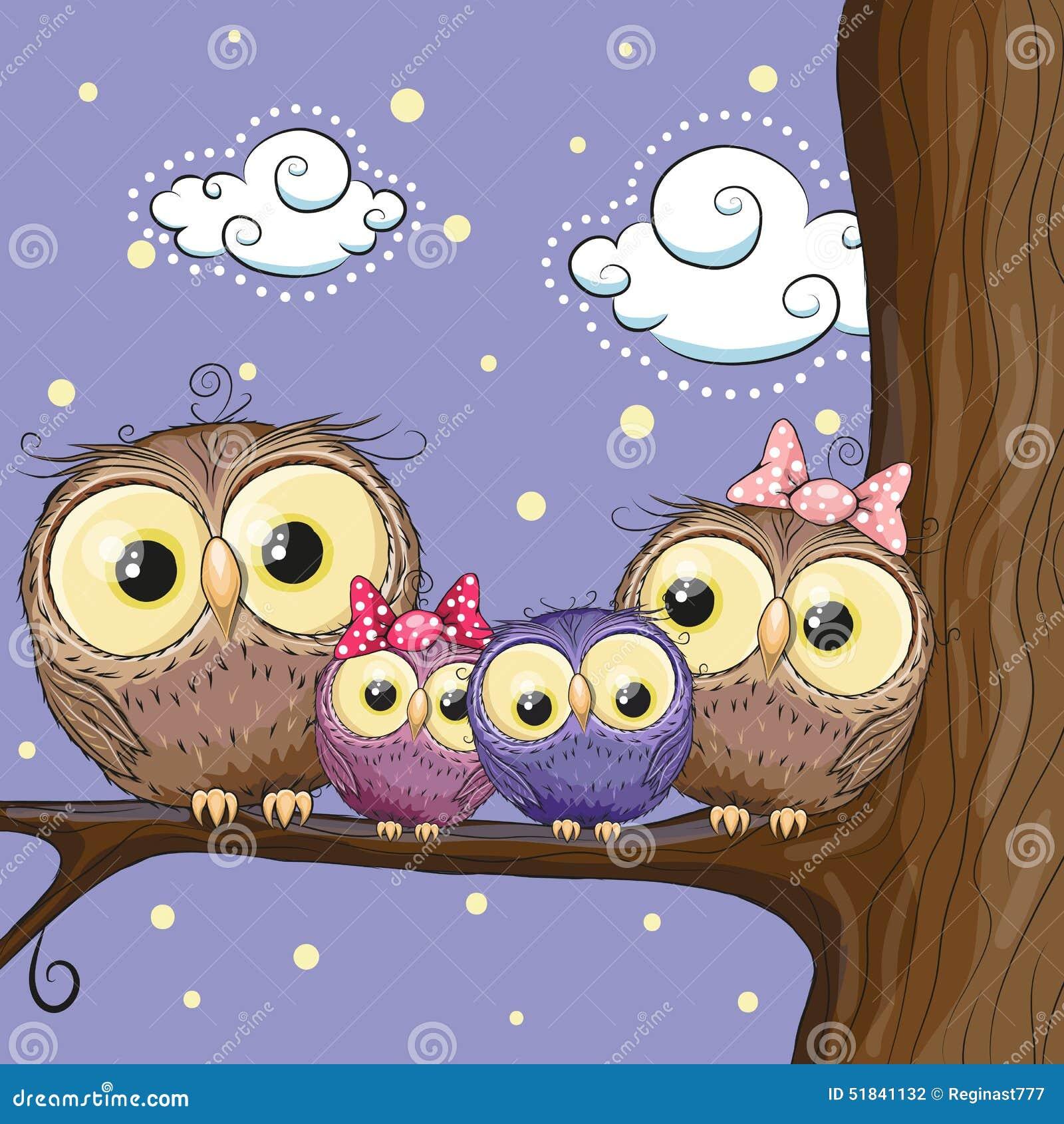 猫头鹰家庭图片