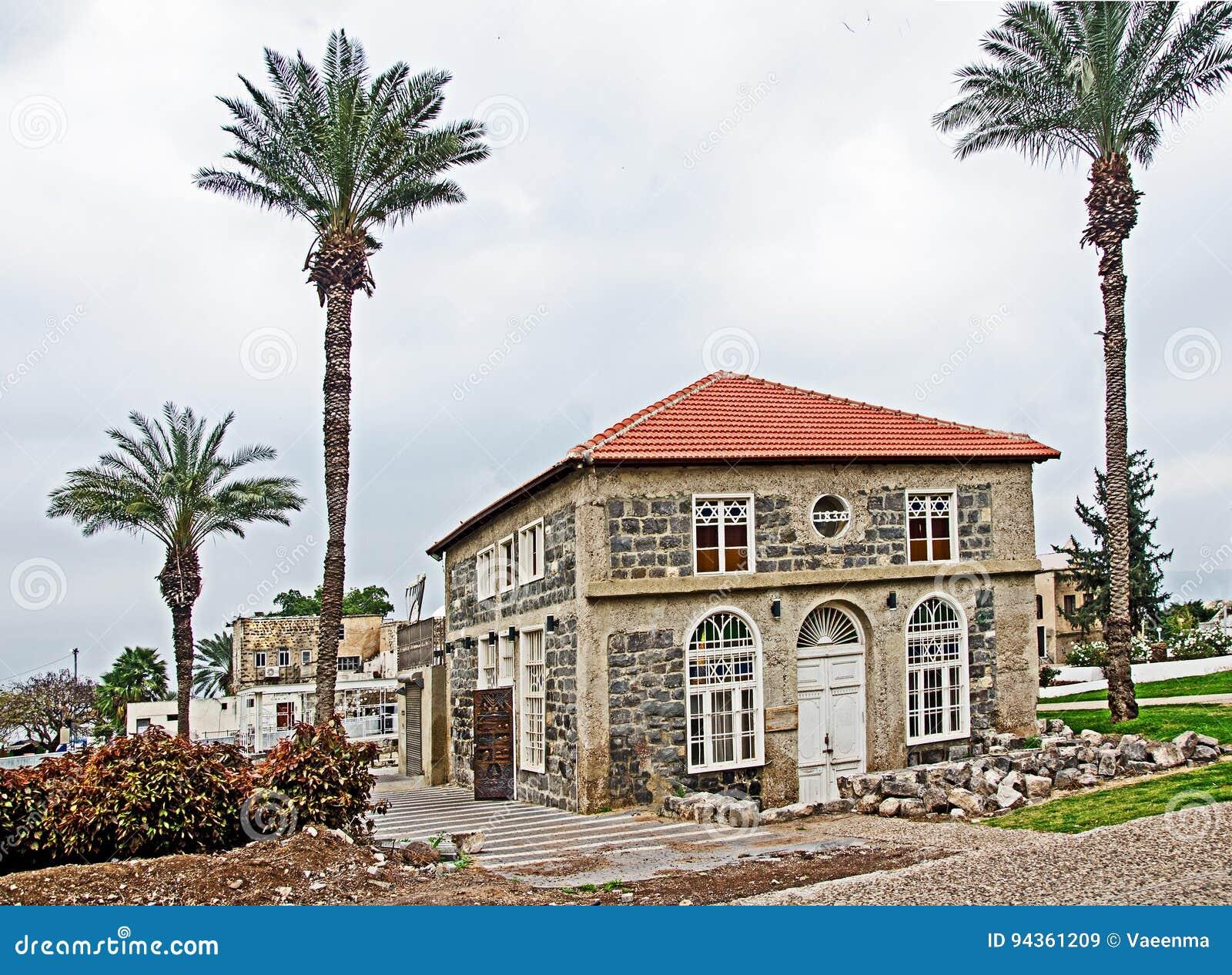 玄武岩犹太教堂在提比里亚