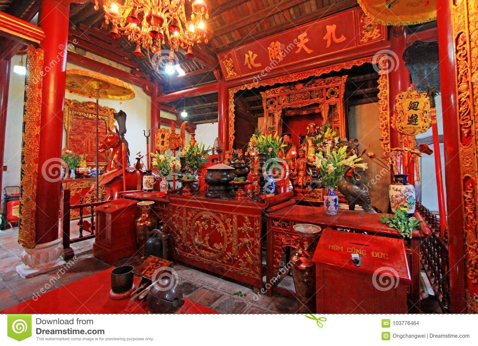 玉山的寺庙在还剑湖,河内越南