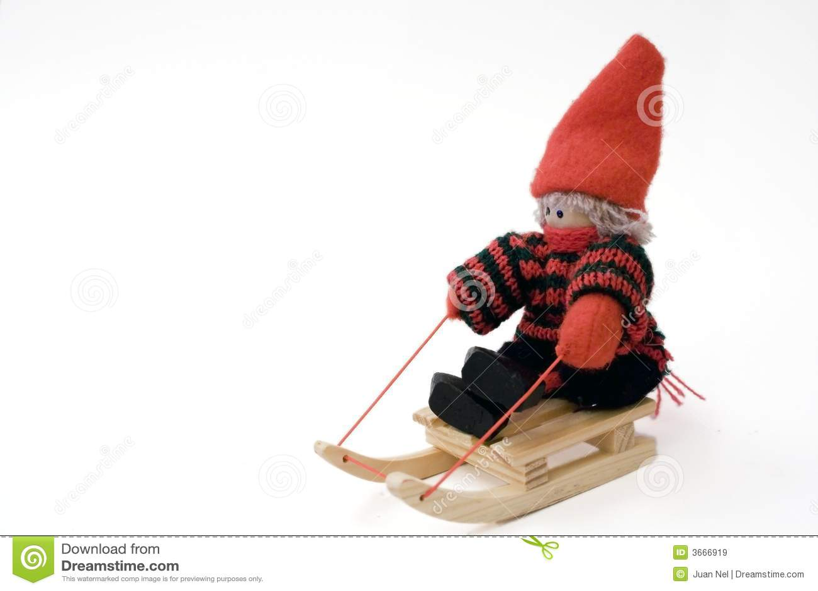 玩偶旧布雪撬玩具