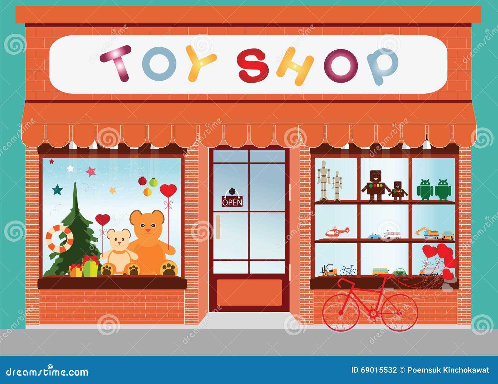 玩具商店窗口显示