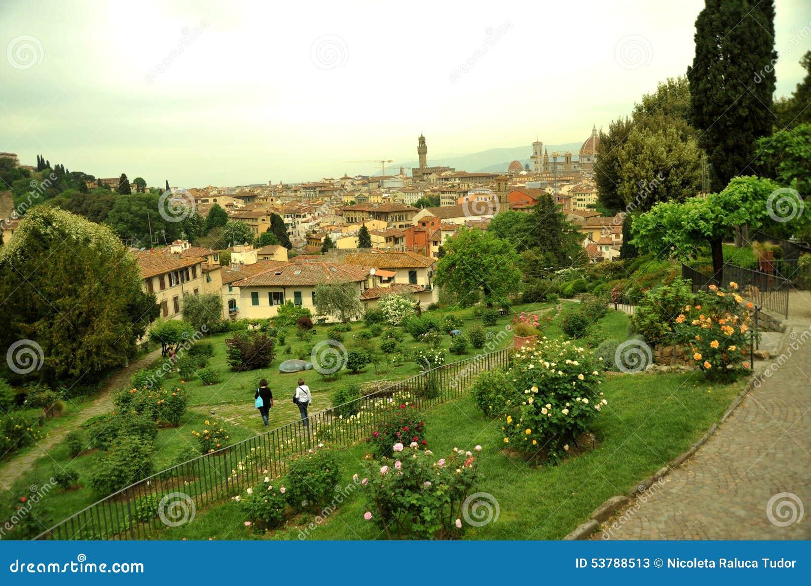 玫瑰园在佛罗伦萨市,意大利