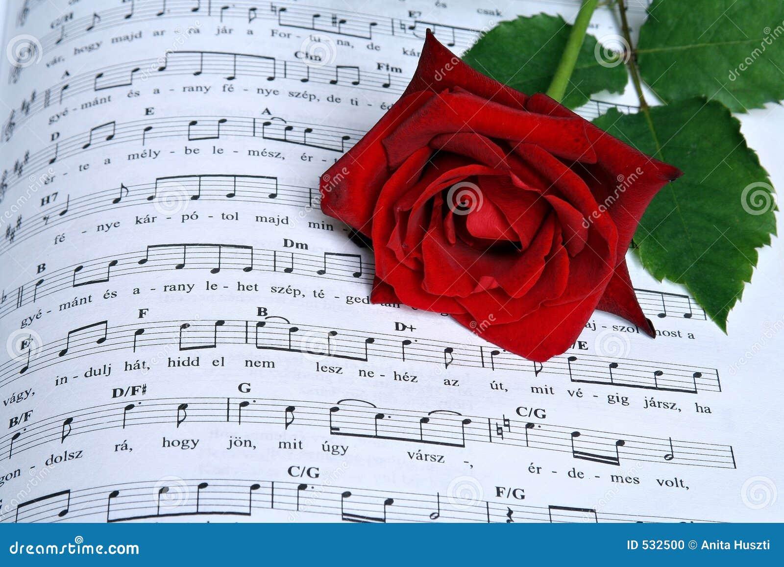 Download 玫瑰色歌曲 库存例证. 插画 包括有 红色, 音乐, 附注, 歌曲, 投反对票, 纸张, 上升了, 空白 - 532500