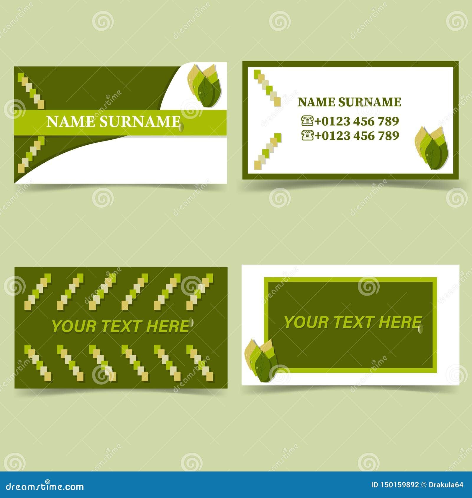 环境方向名片模板,自然白色绿色