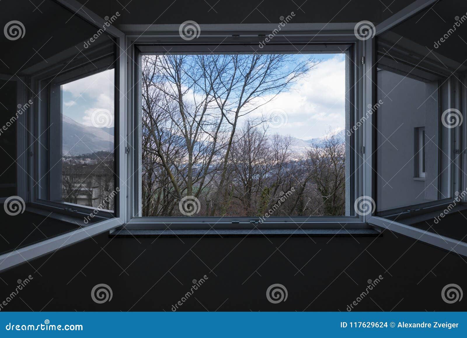 环境美化看见从私人公寓窗口,开窗口