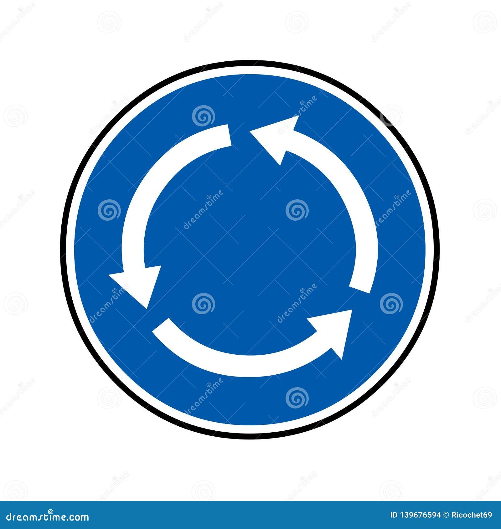 环形交通枢纽路标