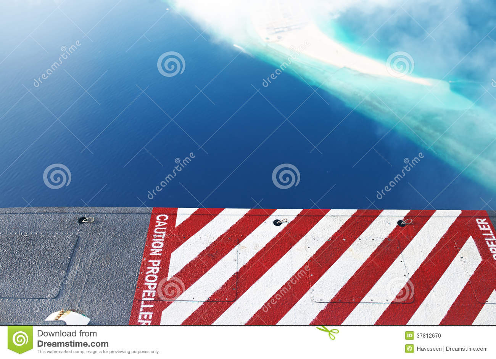 环礁和海岛在马尔代夫,从看法水上飞机