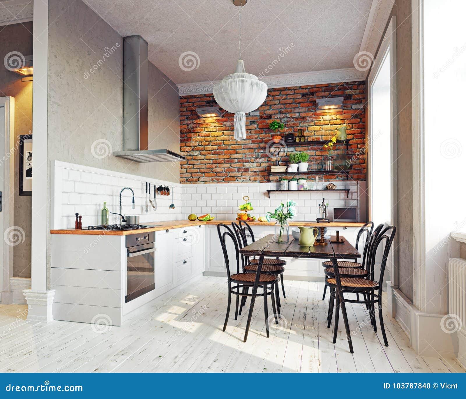 现代内部的厨房