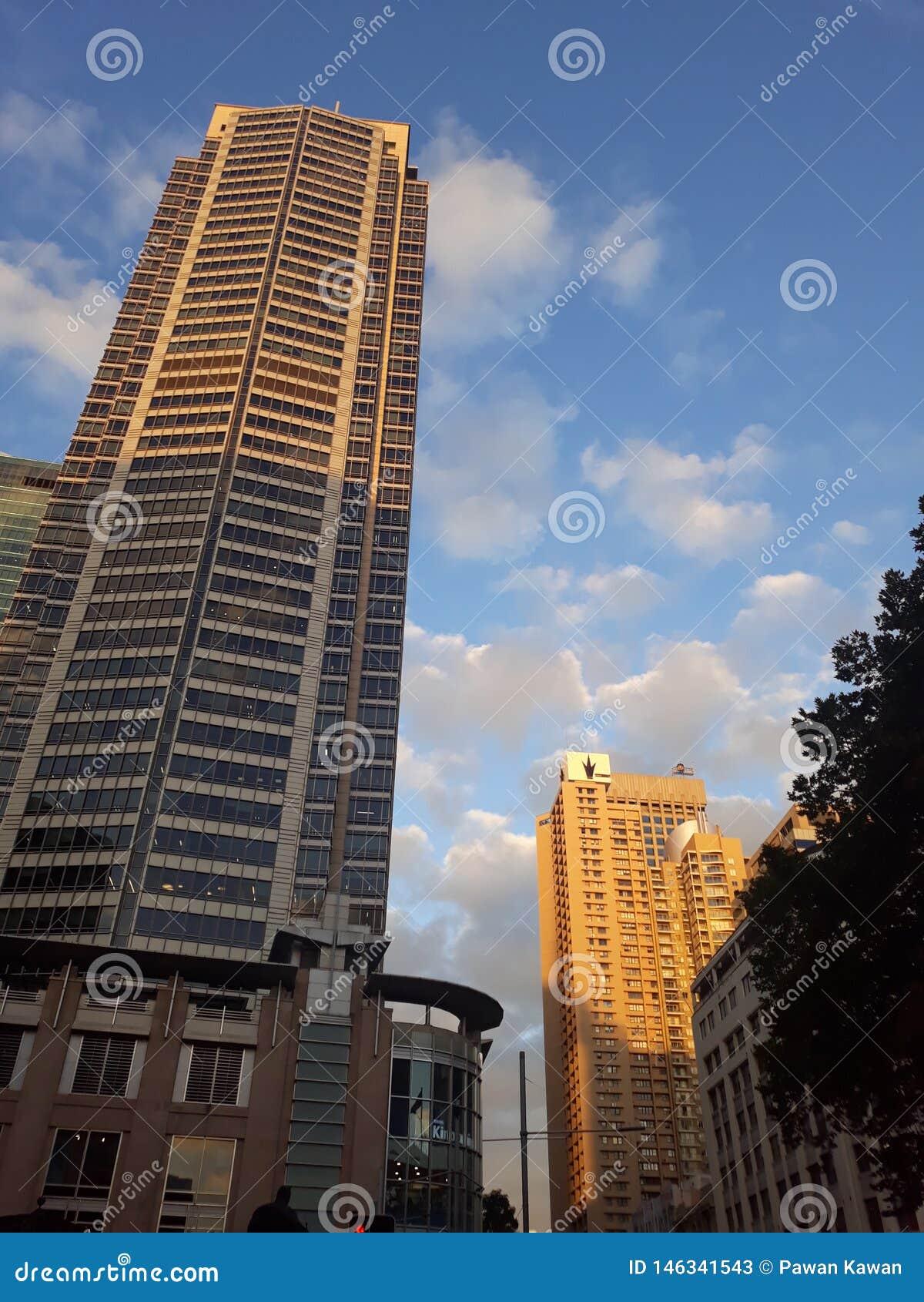 现代大厦在悉尼,澳大利亚