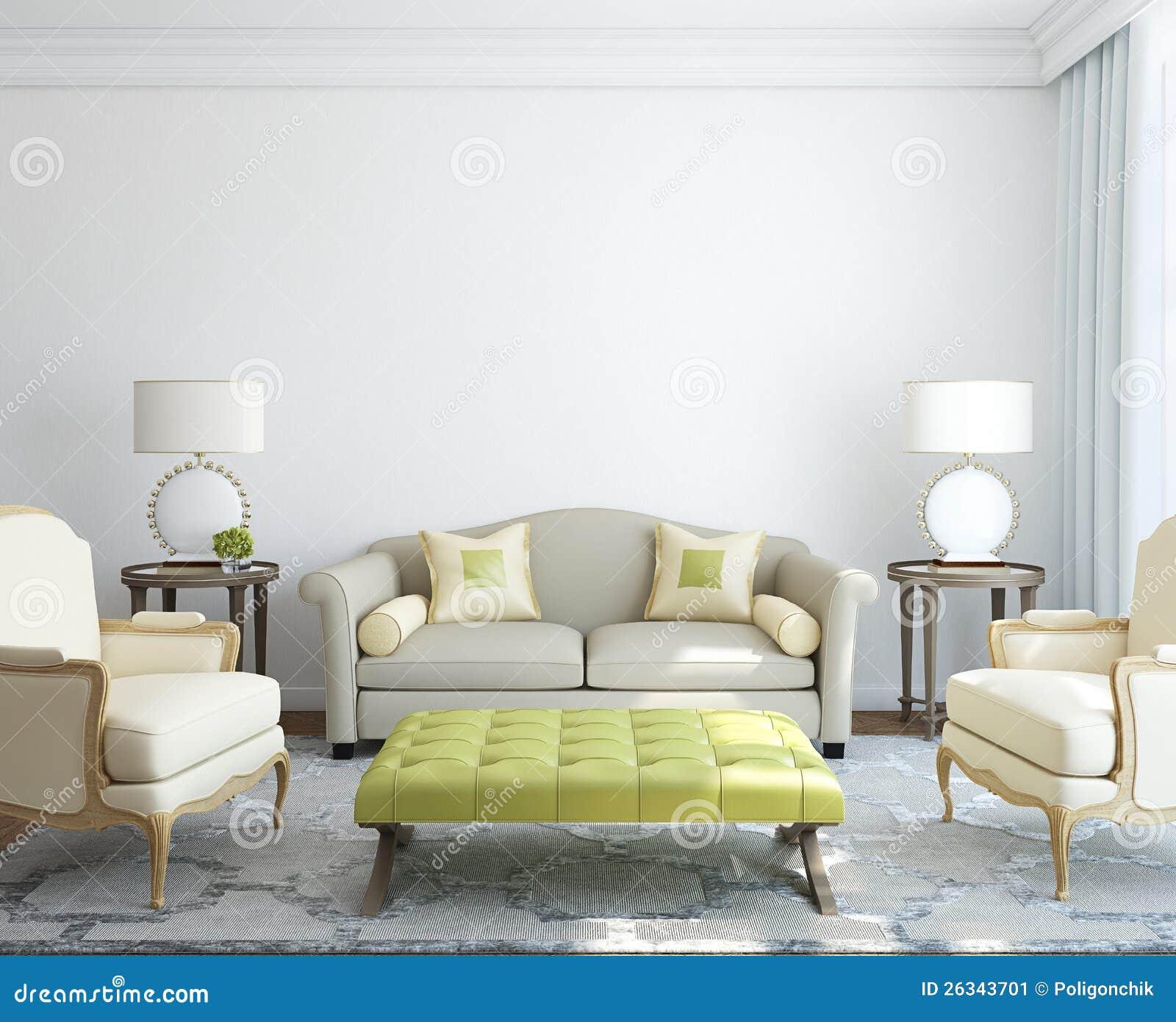 现代客厅内部。