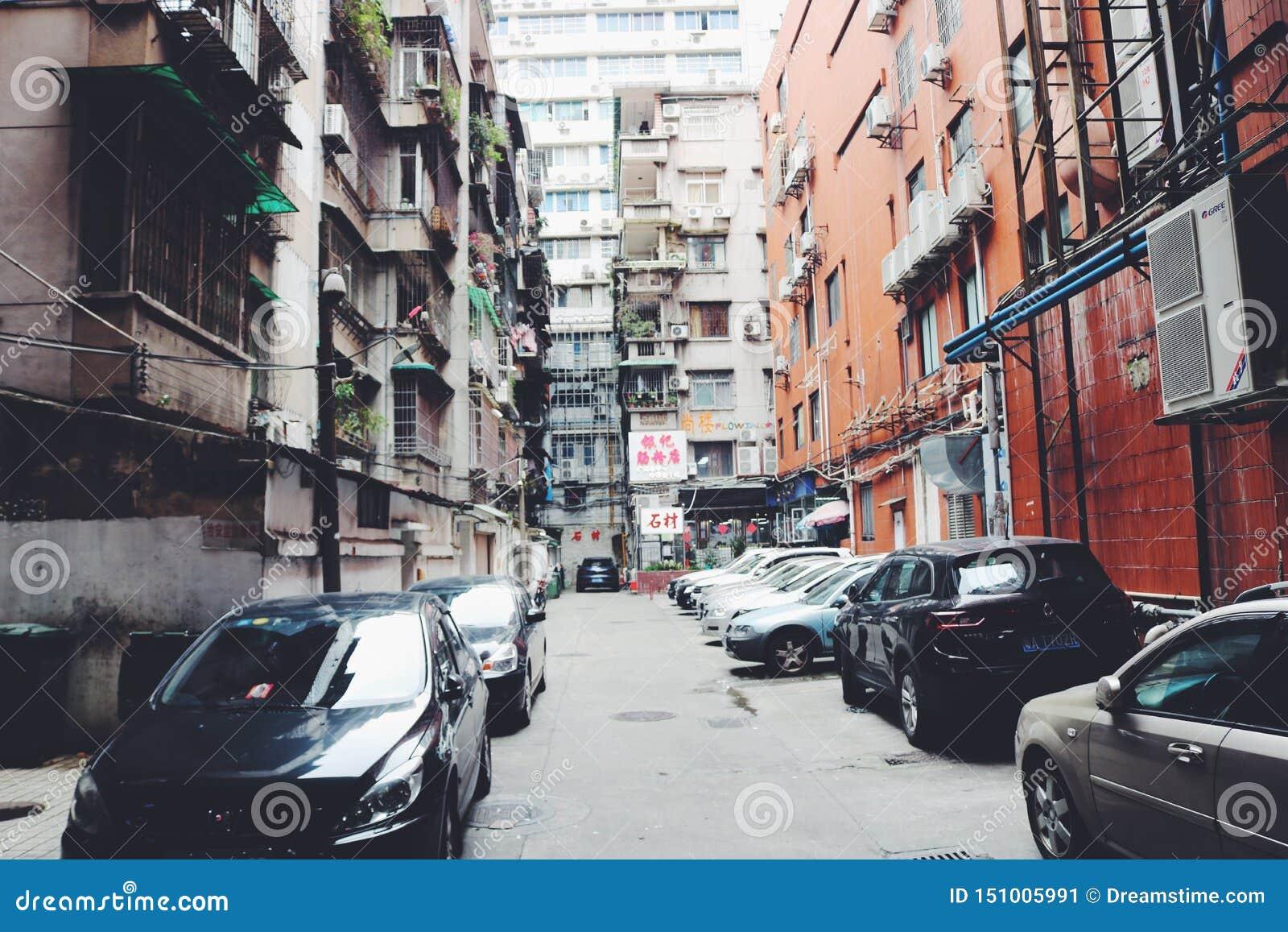 现代建筑居民住房在广州,中国