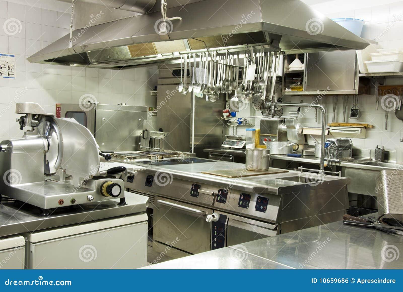 现代旅馆的厨房