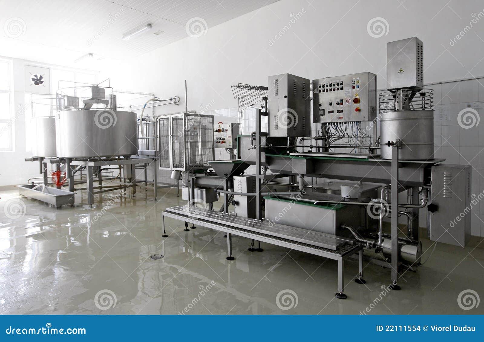 现代牛奶店的工厂