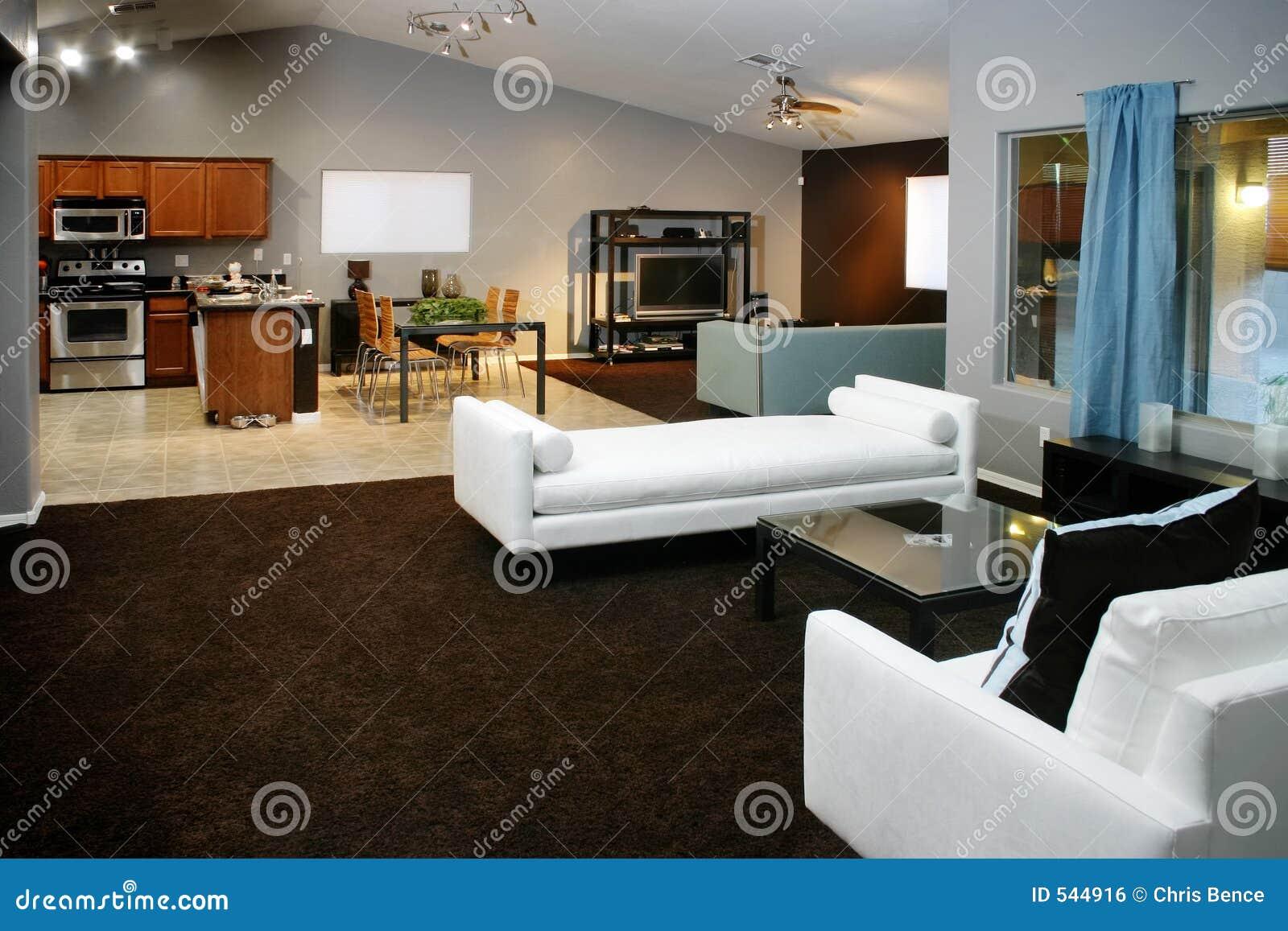 Download 现代空间 库存照片. 图片 包括有 沙发, 用餐, 当代, 有圆顶, 选件类, 现代, 开放, 房子, 上面 - 544916