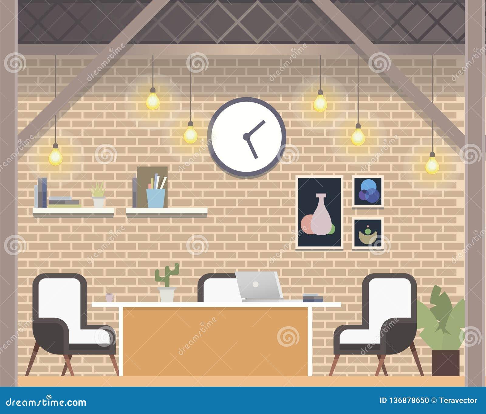 现代自由职业者的Coworking工作场所顶楼样式