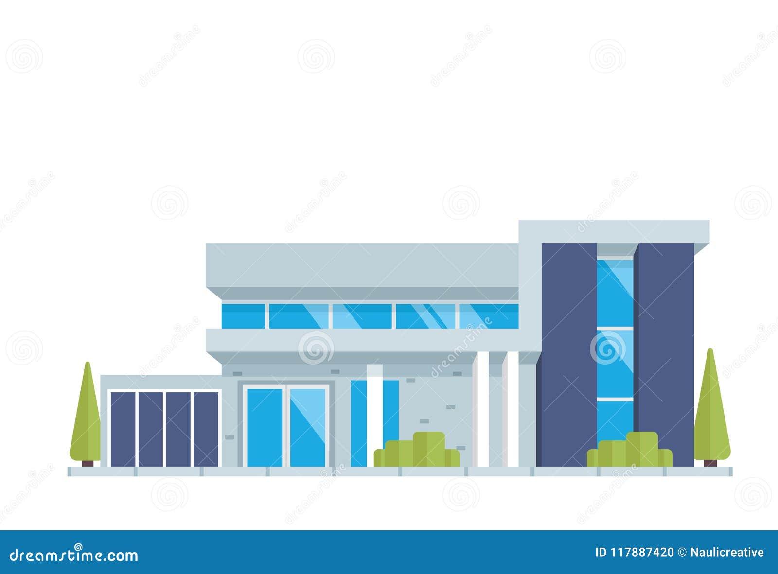 现代豪华当代房屋建设例证