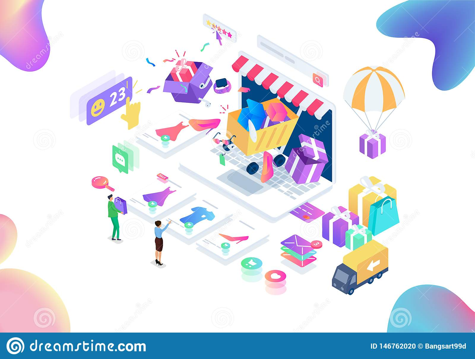 现代购物的等量传染媒介例证